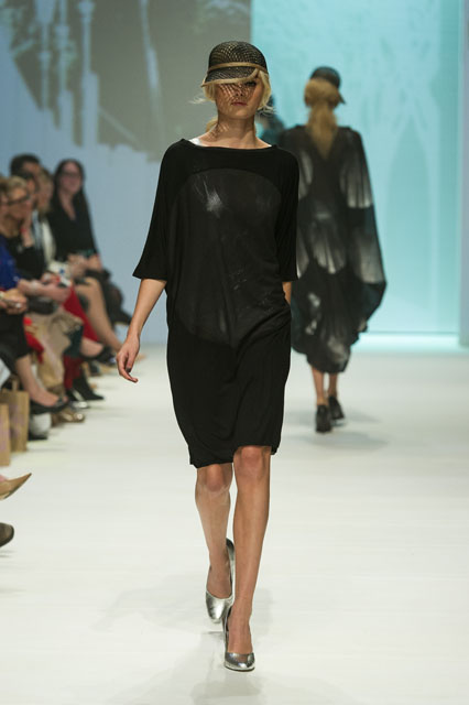 3. ALEXI FREEMAN BATWING DRESS WITH MESH SPHERE PANEL